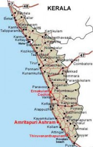 Carte du Kerala